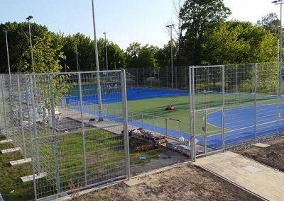 Konstrukcija ograde igrališta